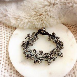 BOHO Silver Beads Bracelet
